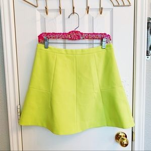 J. Crew Factory Skirts - J. Crew Neon Fluted Skirt in Double Crepe